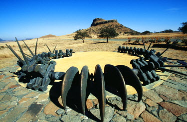 SAF5731 Memorial to the Zulu fallen, Isandlwana, Natal Province on the Battlefields Route, site of British defeat 22 January 1879.