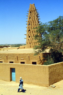 NIG1335 Mosque in Agadez, Niger