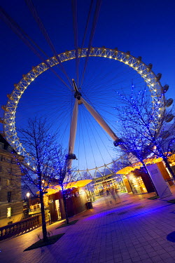 ENG7758 The British Airways London Eye, or simply the Eye for short, is a giant ferris wheel on the banks of the Thames constructed for London's Millennium celebrations. Also known as the Millennium Wheel it...