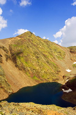 AND1005 Parish of La Massana Mountain Lake in Hiking Area of Pic De Coma Pedrosa, Andorra's Highest Mountain