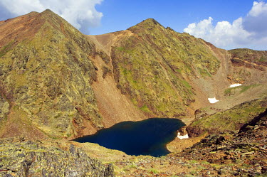 AND1004 Parish of La Massana Mountain Lake in Hiking Area of Pic De Coma Pedrosa, Andorra's Highest Mountain