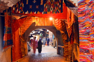 MOR1709 Marrakesh medina market at Place Djema El Fna