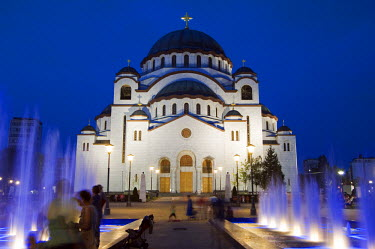 SER1006 St Sava Orthodox Church, built 1935, is the biggest Orthodox Church in the World