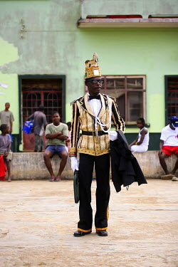 SAO1010 Amateur actors perform a Sao Tomense play called 'Auto de Floripes'. The play is traditionally performed each year in August in the middle of Santa Antionio, on the island of Princip�.  Sao Tom� and P...