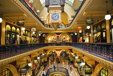 AUS0349 The interior of the Queen Victoria Building - Sydney's grandest shopping centre