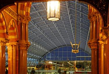 ENG8771 England, London,St. Pancras. St. Pancras International railway station.