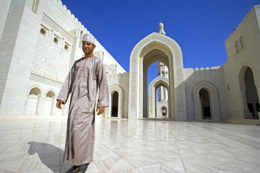 Oman, Muscat, Ghala, Al Ghubrah (Grand Mosque) Mosque. The mosque, a magnificent example of modern islamic architecture, was built for the nation by Sultan Qaboos to mark the 30th year of his reign an...