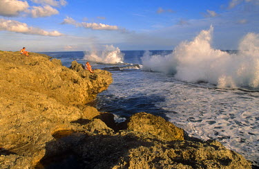 PAC1058 Pacific Islands, Kingdom of Tonga. The Blowholes of Houma.