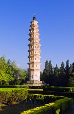 CH2705 China, Yunnan province, Dali Town, One of the Three Pagodas at Chongsheng Temple