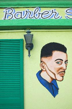 AA01022 Barbershop Art, Wilhelminastraat, Oranjestad, Aruba, Caribbean