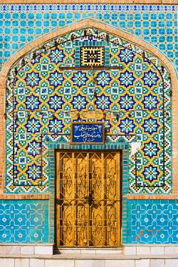 AF01062 Afghanistan, Mazar-I-Sharif, Tiling around door, Shrine of Hazrat Ali