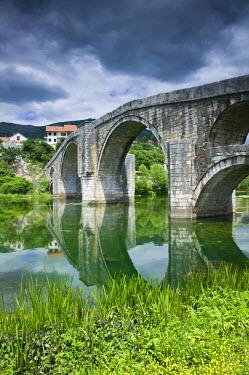 BH01029 Bosnia and Herzegovina, Trebinje, Republika Serbska, Town on the Trebisnjica River