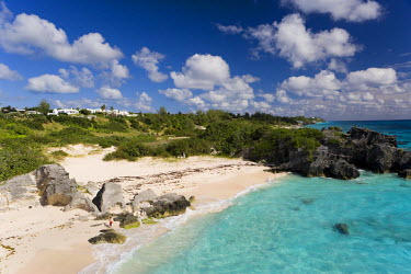 BU01013 Bermuda, Southampton Parish, South Coast Beaches, Chaplin Bay