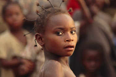 AC01019 Portrait of a girl, Bayanga Village, SW Central African Republic