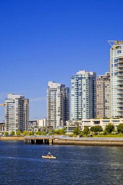 CA01077 False Creek and Vancouver Skyline, Vancouver, British Columbia, Canada