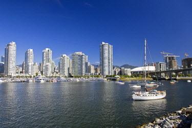 CA01078 False Creek and Vancouver Skyline, Vancouver, British Columbia, Canada