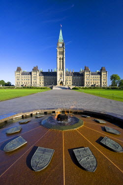 CA03046 Canadian Parliament & Centennial Flame Monument, Parliament Hill, Ottawa, Ontario, Canada