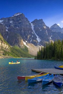 CA08161 Moraine Lake and Valley of 10 Peaks (Wenkchemna Peaks) at sunrise, Banff National Park, Alberta, Canada