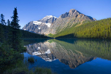 CA08236 Cavell Lake and Mt. Edit Cavell, Jasper National Park, Alberta, Canada