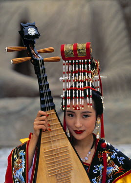 Woman with Sitar, China