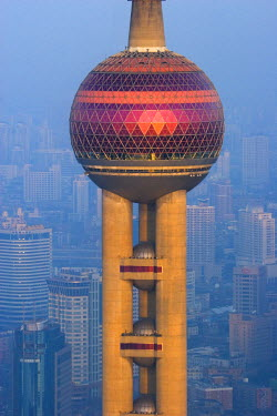 CN03058 The Oriental Pearl Tower, Pudong, Shanghai, China