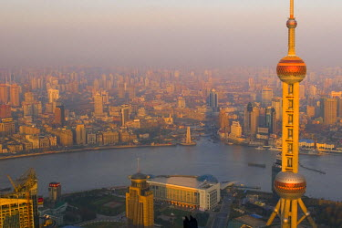 CN03059 The Oriental Pearl Tower, Pudong, Shanghai, China