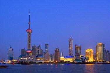 CN03068 Pudong Skyline, Shanghai, China