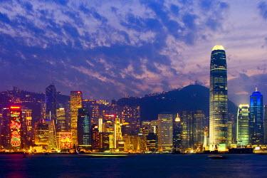 HK01139 Skyline of Hong Kong Island from Kowloon, Hong Kong, China