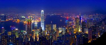 HK01140 Skyline of Hong Kong from Victoria Peak, Hong Kong, China