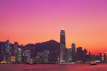 TPX8624 China, Hong Kong, City Skyline and Victoria Harbour at Night