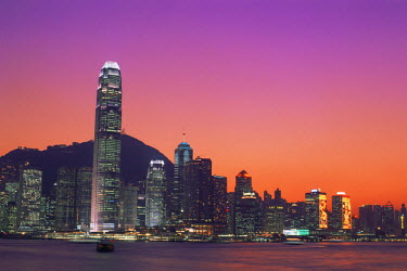 TPX8625 China, Hong Kong, City Skyline and Victoria Harbour at Night