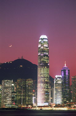 TPX8627 China, Hong Kong, City Skyline and Victoria Harbour at Night