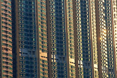 TPX9550 China, Hong Kong, Lantau, Tung Chung, Typical new Town Housing Hi-rise Apartment complex