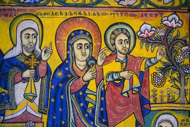 EH01037 Murals, Church of Ura Kedane Meheriet, Zege Peninsula, Lake Tana, Ethiopia