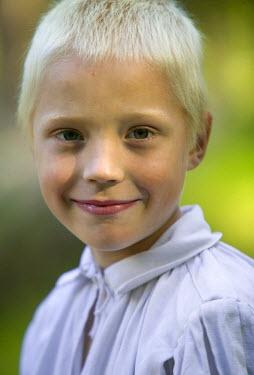 ET01066 Boy at Folk festival, Tallinn,  Estonia