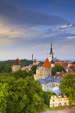 ET01077 Old Town from Toompea, Tallinn, Estonia