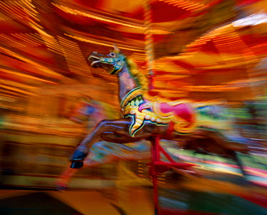TPX6069 Carousel / Merry go Round / Galloping Horse, Blackpool, Lancashire, England