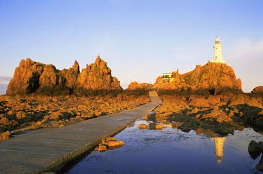 TPX8947 United Kingdom, Channel Islands, Jersey, La Corbiere Lighthouse at Dawn