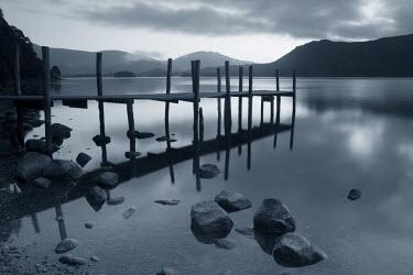 UK02484a Pier, Derwent Water, Lake District, Cumbria, England