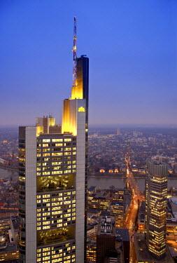 DE06131 Commerzbank Building from Helaba Building, Frankfurt, Hessen, Germany