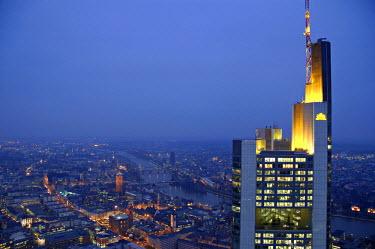 DE06132 Commerzbank Building from Helaba Building, Frankfurt, Hessen, Germany