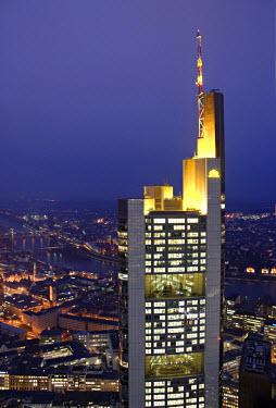 DE06133 Commerzbank Building from Helaba Building, Frankfurt, Hessen, Germany