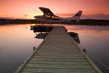FN02024 Air Taxi & Lake, Inari, Lemmenjoki National Park, Arctic Circle, Lapland, Finland