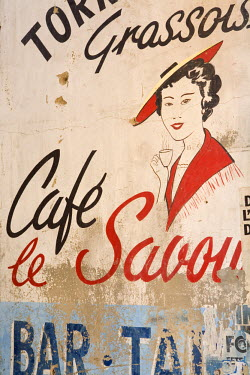 FR02243 Cafe Sign, Grasse, Provence, France