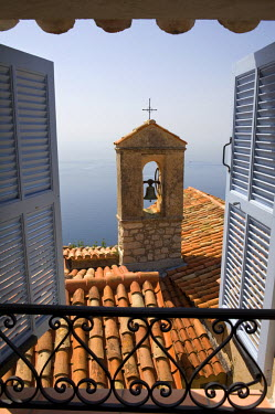 FR02285 Church Bell Tower, Eze, French Riviera, Cote d'Azur, France