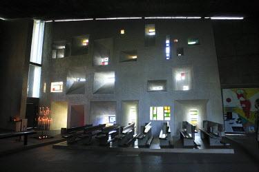 FR02373 Chapel of Notre Dame du Haut (architect Le Corbusier, 1954), Ronchamp, Franche-Comte, France