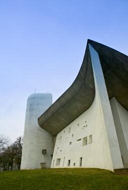 FR03067 Notre Dame du Haut Chapel by Le Corbusier, Ronchamp, France
