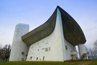 FR03068 Notre Dame du Haut Chapel by Le Corbusier, Ronchamp, France
