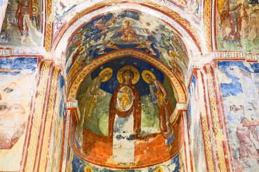 GG01023 Georgia, Kutaisi, Gelati Monastery interior