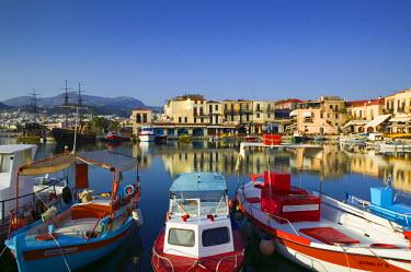 GR12217 Venetian Harbour, Rethymno, Crete, Greece